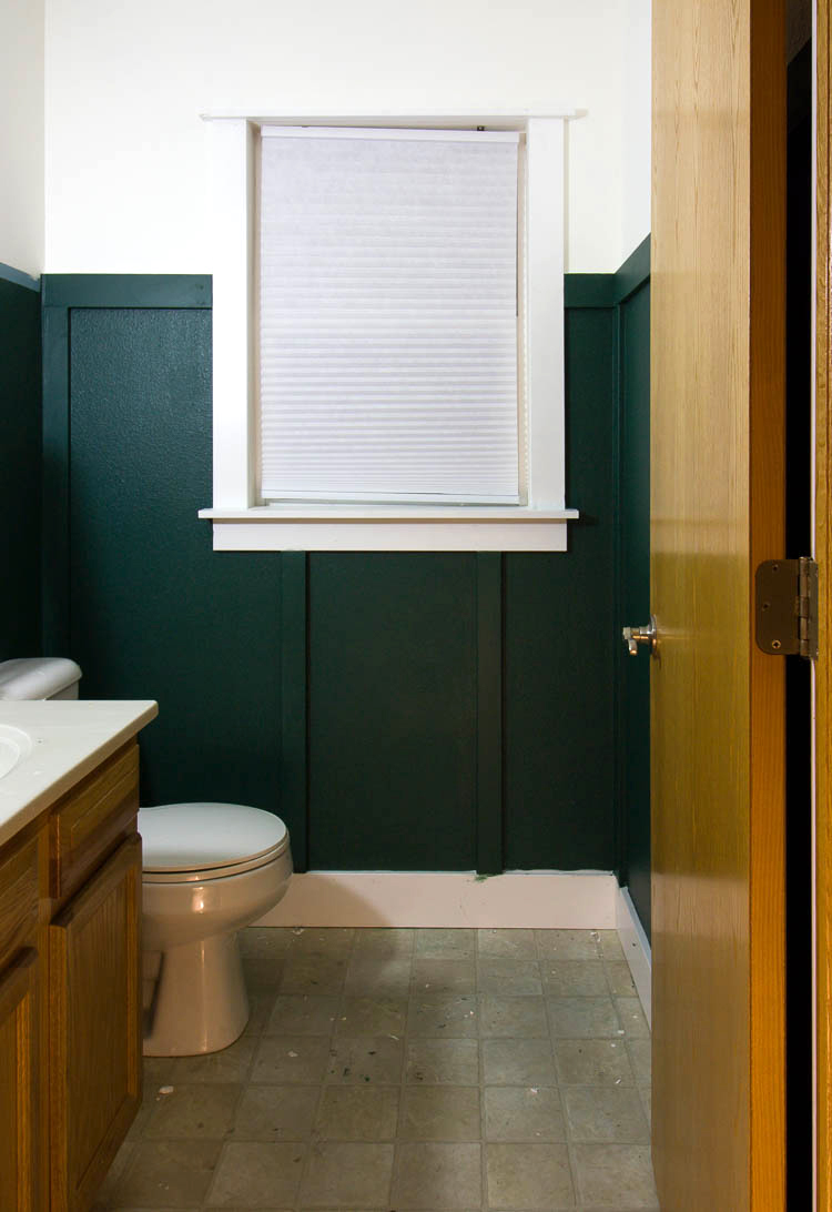 green-bathroom-with-board-and-batten-walls