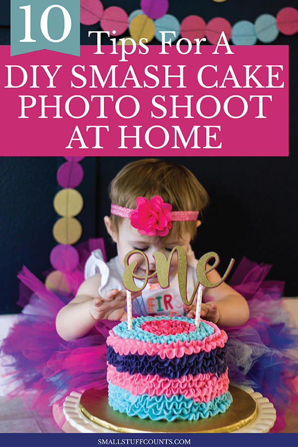 Miraculous First Birthday Diy Cake Smash Photo Session Tips Small Stuff Counts Personalised Birthday Cards Veneteletsinfo
