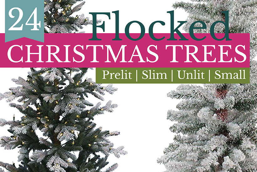 24 Gorgeous Affordable Flocked Christmas Trees Small Stuff Counts