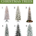 6 slim flocked christmas trees