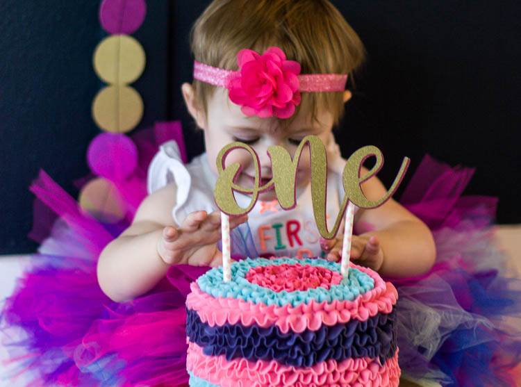 Prime First Birthday Diy Cake Smash Photo Session Tips Small Stuff Counts Birthday Cards Printable Riciscafe Filternl