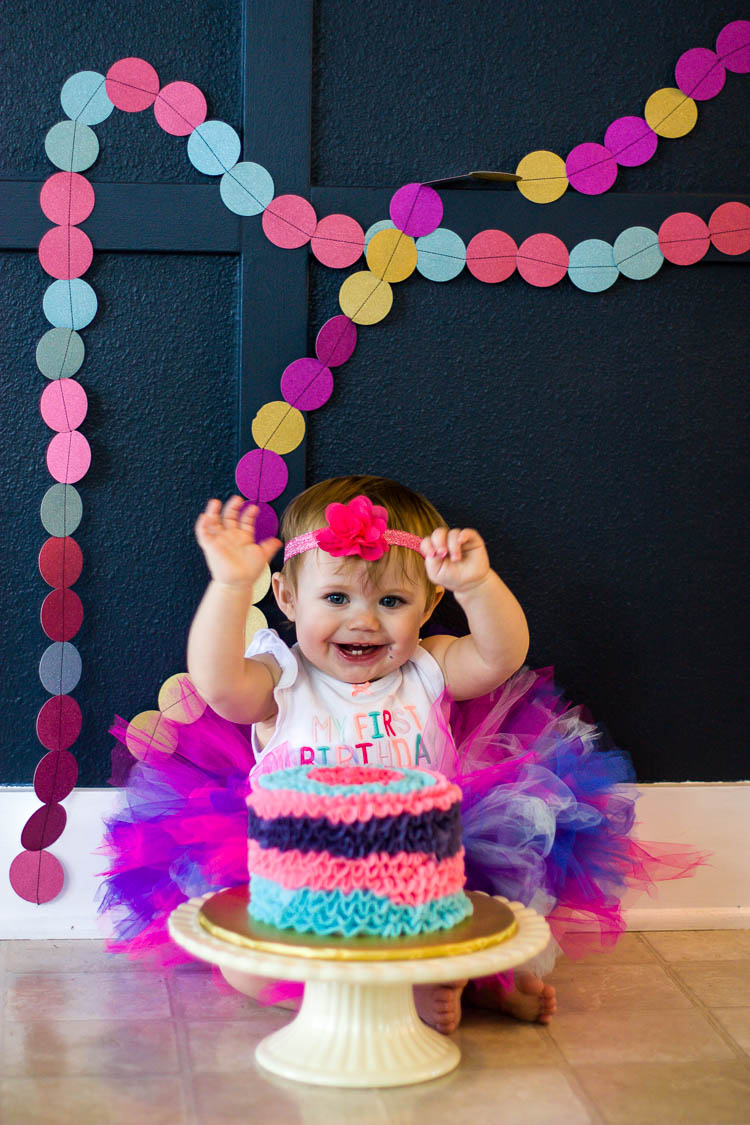 colorful-smash-cake-with-baby-girl