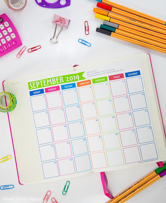 2019-calendar-free-printable