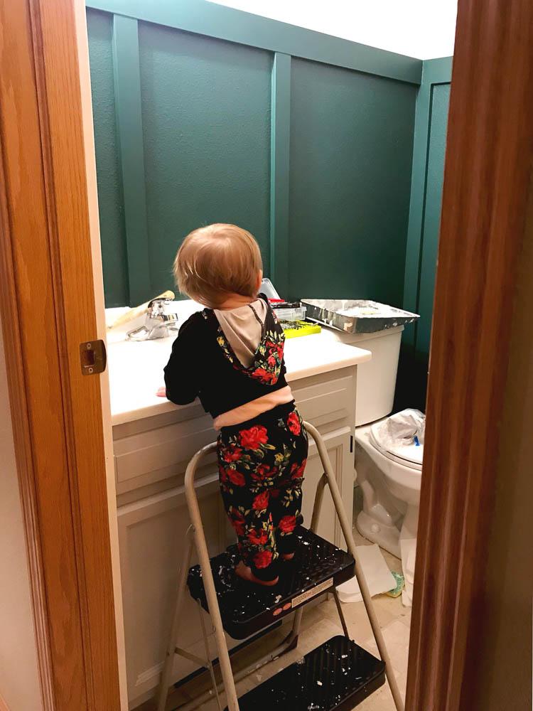 painted-vanity-in-green-bathroom