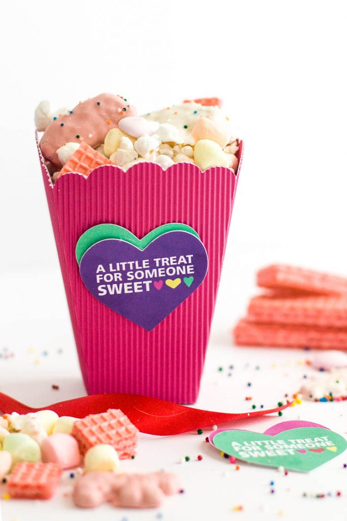 photograph relating to Printable Popcorn Boxes named Colourful Do-it-yourself Valentine Popcorn Packing containers and Printable Valentine