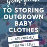 image of baby clothes with text overlay