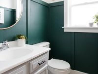 Modern Green Bathroom Makeover