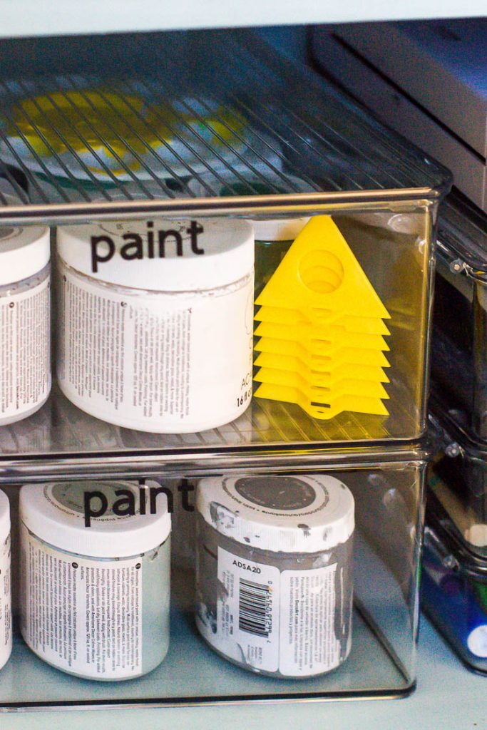 craft-paint-organized-in-clear-containers-with-labels