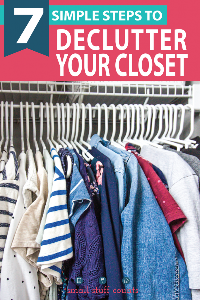 color-coded-closet-with-text-overlay-that-says-7-simple-steps-to-declutter-your-closet