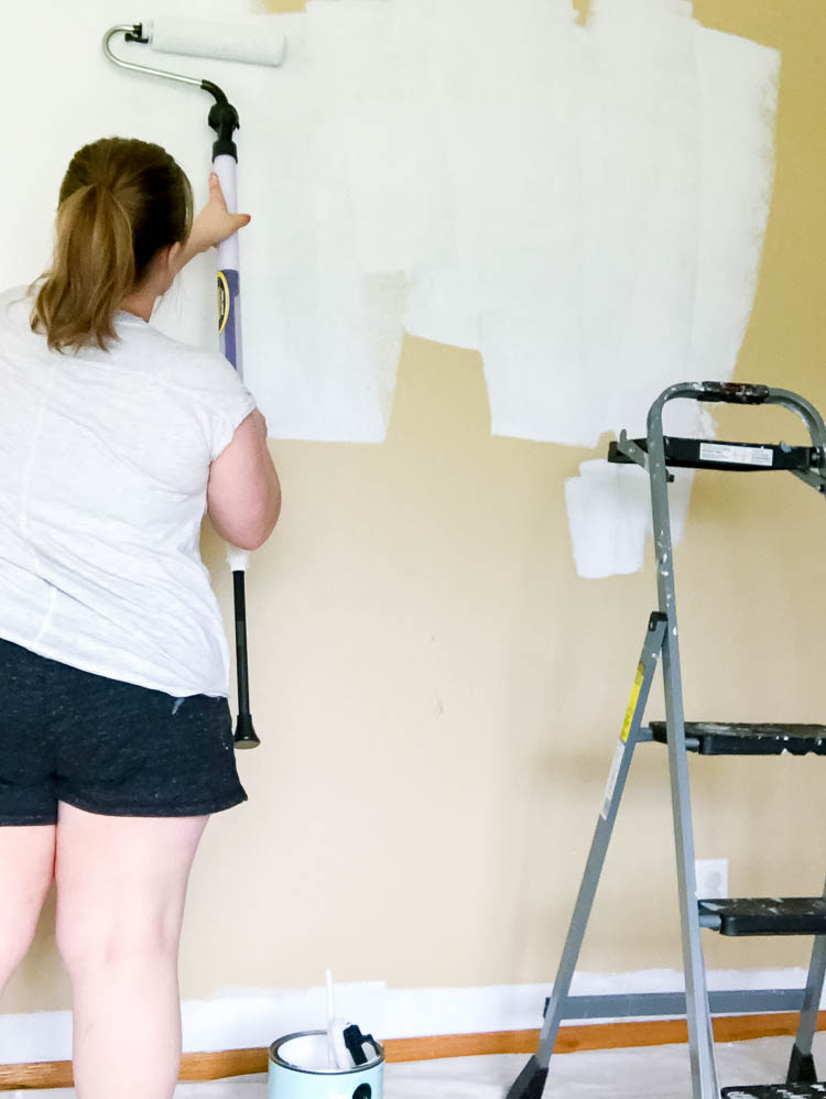 woman-painting-wall-with-wagner-smart-roller