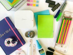 flatlay-of-office-supplies