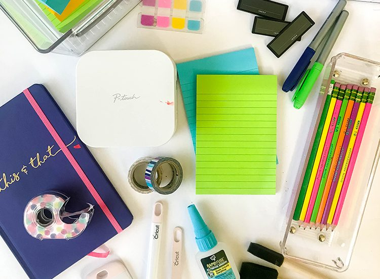 flatlay-of-office-supplies
