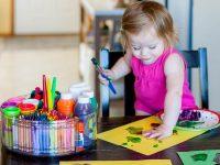 An Organized Toddler Art Caddy