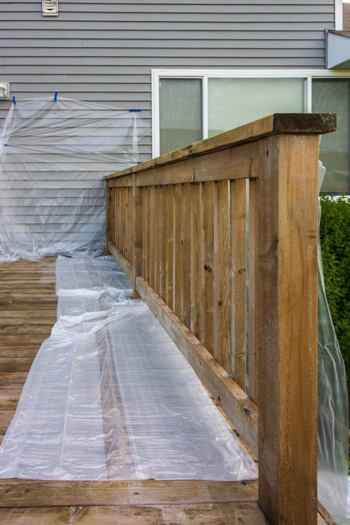 staining-a-deck-railing