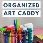 image of art caddy with text overlay
