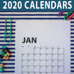 2020-calendar-page-on-striped-background