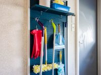 DIY Garage Pegboard Organizer For Cleaning Supplies