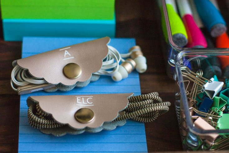 DIY Leather Cord Organizers (With The Cricut EasyPress Mini)