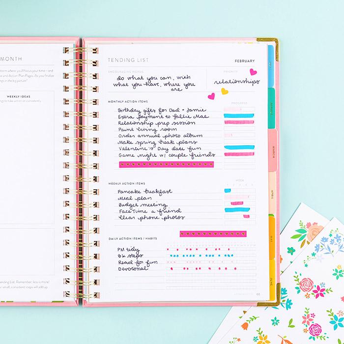 tending list inside Powersheets goal planner