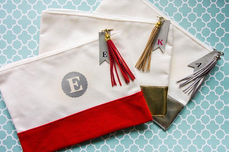 Monogram Makeup Bags Diy Gift Idea With The Cricut Maker
