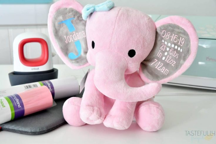 Birth Announcement Stuffed Animal With Cricut EasyPress Mini