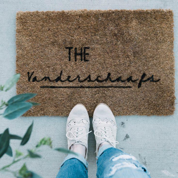 DIY Personalized Doormat [with Cricut & Martha Stewart] - Love Create Celebrate