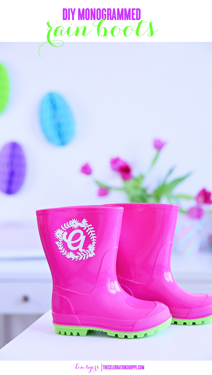 How to Make Your Own DIY Monogrammed Rain Boots With a Cricut
