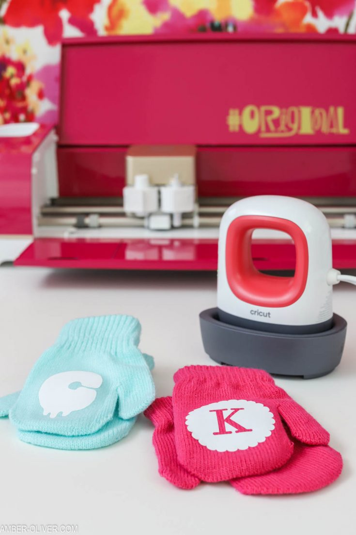 Monogrammed Mittens with the Cricut EasyPress Mini