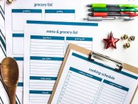 Printable Christmas Menu Planner & Cooking Schedule