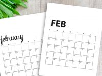 Free February 2020 Calendar Printables | Sunday And Monday Start