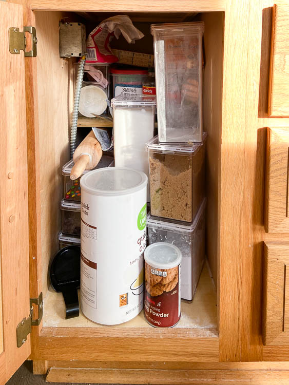 messy-baking-supplies-in-pantry-cabinet