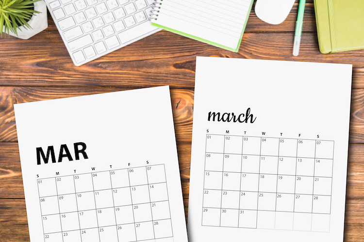 march-2020-printable-calendars-flatlay