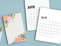 Free April 2020 Calendar Printables | Sunday And Monday Start