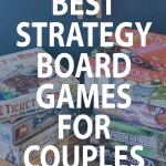 graphic of best strategy board games for couples