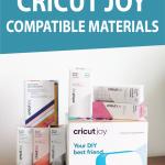 graphic: the full list of cricut joy compatible materials