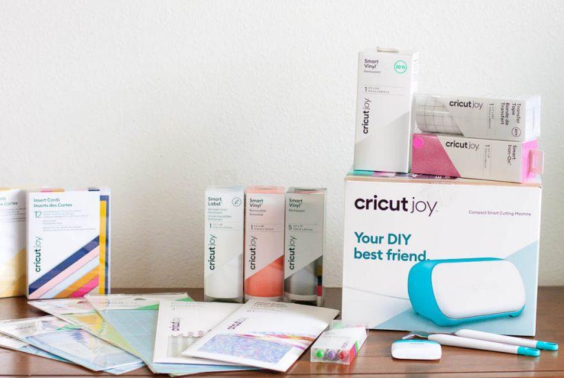 cricut joy box with rolls of smart materials