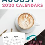 image of latte with calendar image and text overlay