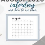 august 2020 calendar overlaying simple background