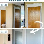 before and after photos of painted doors