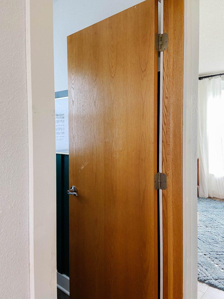honey oak door