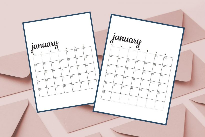 image of january calendars