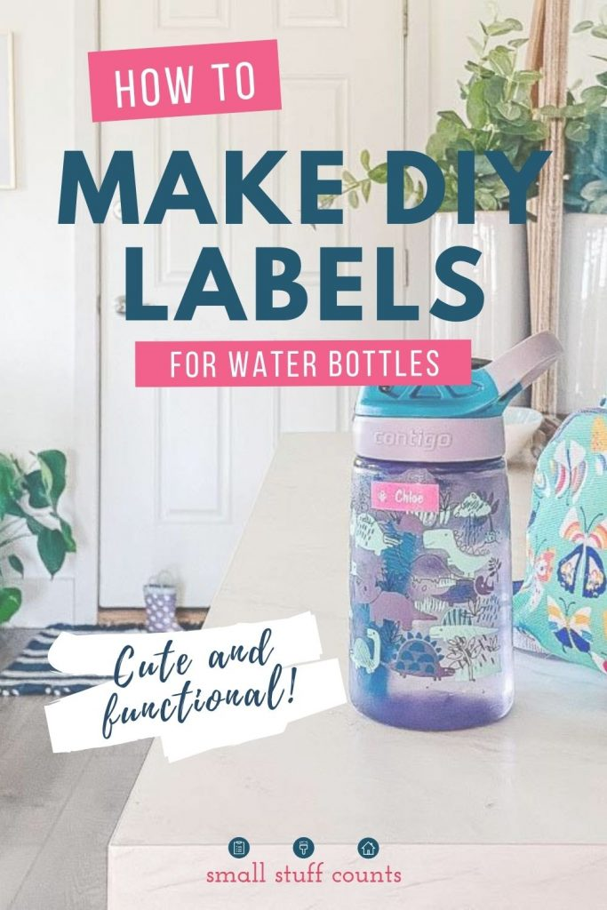 image of kids water bottle with text overlay