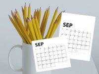 Free September 2020 Calendar Printables   Sunday And Monday Start