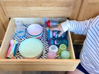 How to Organize Kids' Dishes In A Drawer