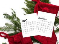 Free December 2020 Calendar Printables | Sunday And Monday Start