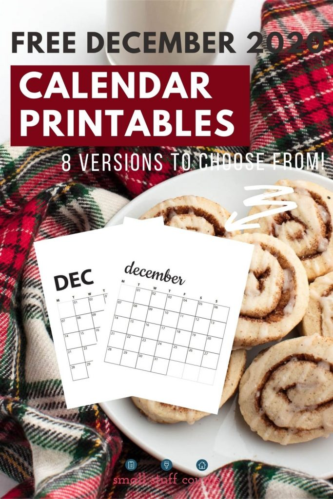 cinnamon rolls and December calendars