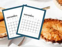Free November 2020 Calendar Printables | Sunday And Monday Start
