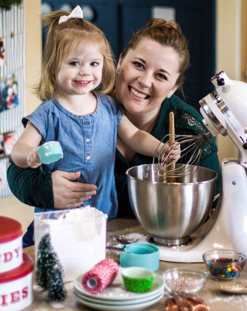 emily and chloe baking cookies