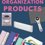 collage of organizing products with text overlay