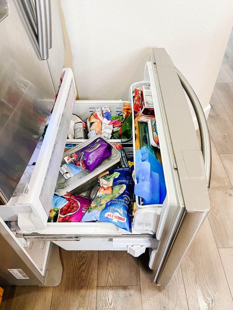 freezer full of food